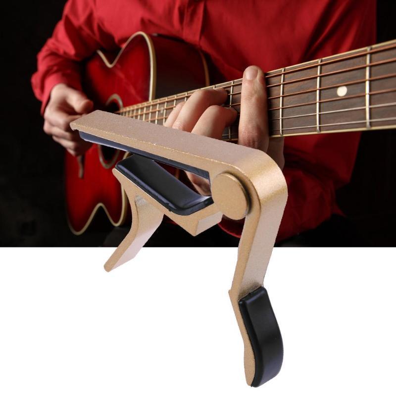 سبيكة الغيتار إكسسوارات الألمنيوم موالف الغيتار المشبك المهنية مفتاح الزناد كابو صوتية كهربائية آلات موسيقية أجزاء