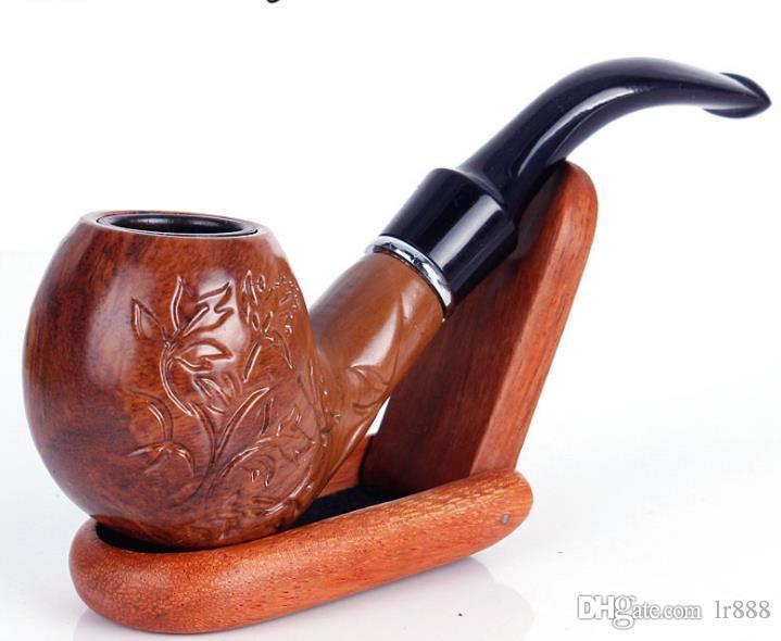 imitation pierre, tuyau de nanmu, tuyau en résine, accessoires de cigarettes de poignée de pliage libre-fumeur
