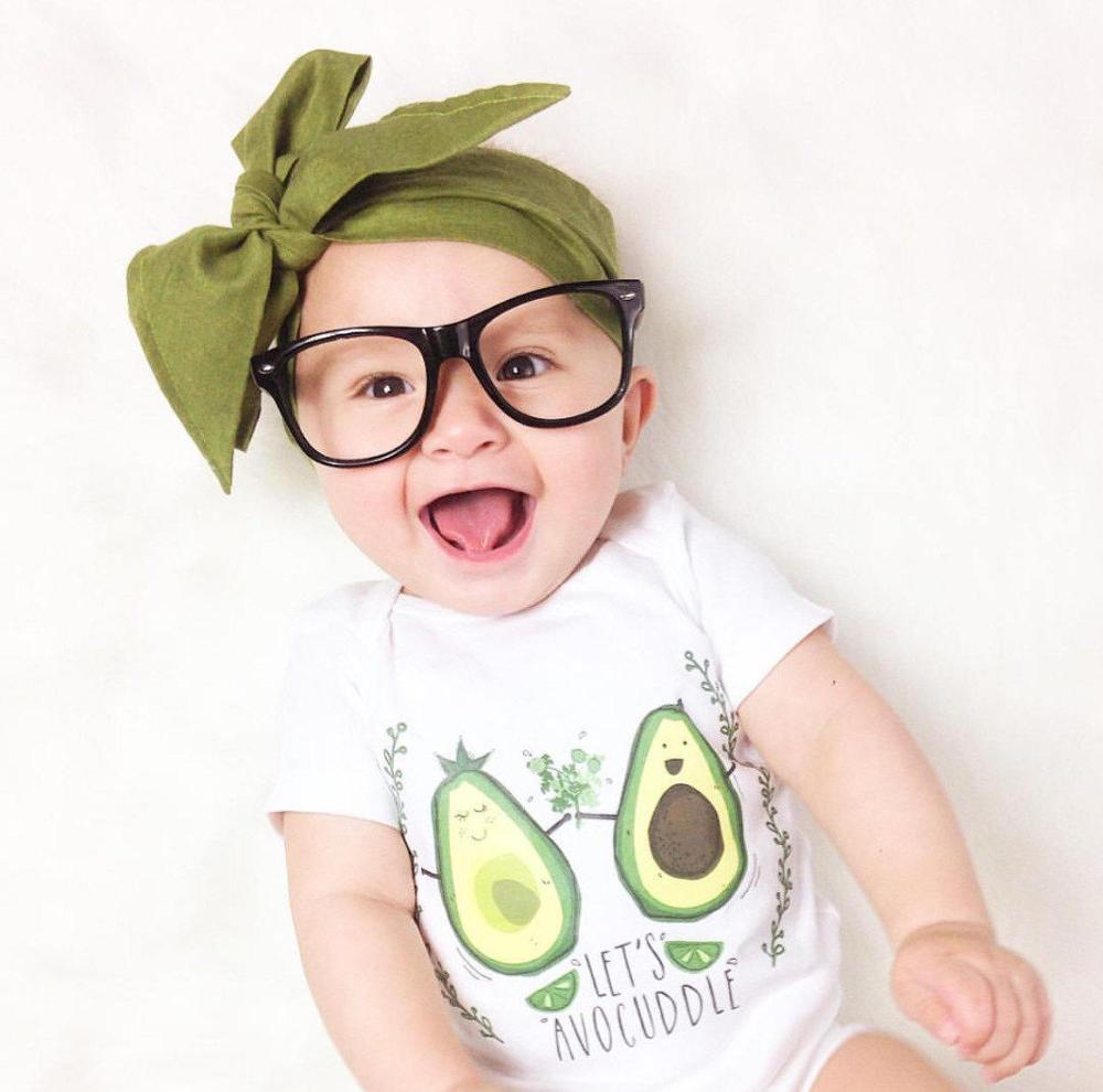 2020 Newborn Baby Girls boy Cute Avocado Onesie Baby Rompers Infant Jumpsuit Bodysuit Baby Shower Gift 0-24M