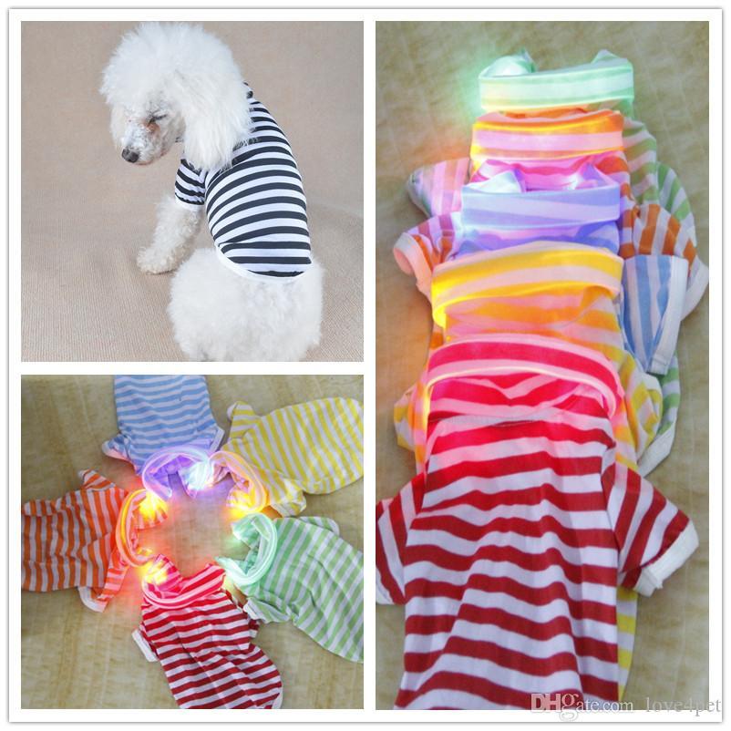F13 pet LED Light Shirt Sommerkleidung für Hunde süße Hundekleidung für kleine, mittelgroße Hundekleidung