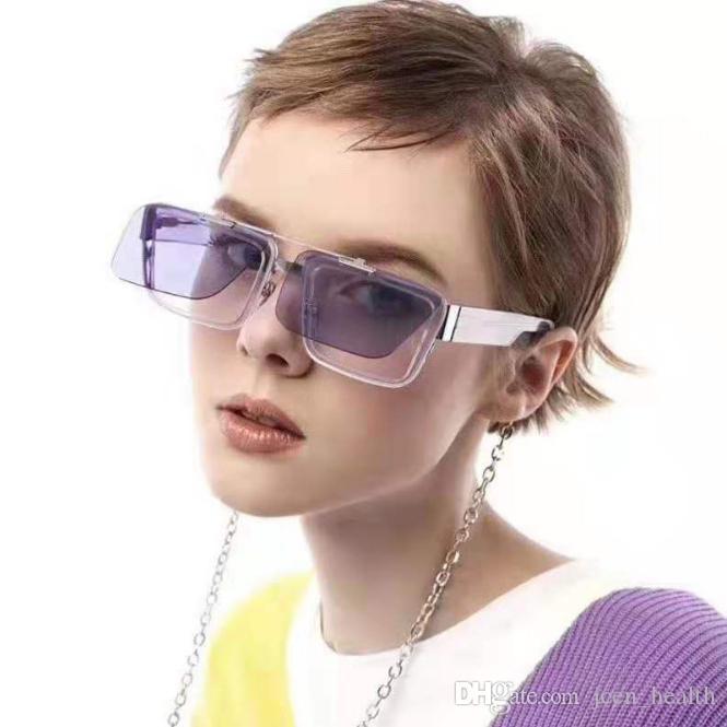 عدسة عالية الجودة متعدد الطبقات النظارات الشمسية المستطيل عدسة تصل الوجه للنساء الرجال نظارات الشمس فوق البنفسجية دليل حملق النظارات