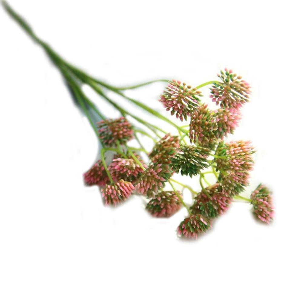 플라스틱 민들레 꽃 수국 인공 꽃 식물은 홈 장식 웨딩 장식 꽃 1PC 핑크 로사를 들어 꽃다발