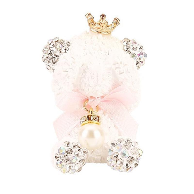 1pcs Cute Cartoon Bear Diamond Car Air Freshener Fragrance Smell Outlet Vent Clip Bling Crystal Ornaments Aromatic Car Perfumes