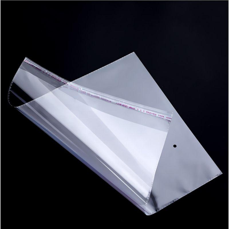 Оптовая продажа 1000 шт. 12 * 15 см-15 * 22с Сумки для хранения Прозрачный самоклеящаяся печать Пластиковая упаковка Мешок Resealable Целлофан OPP Poly Bag
