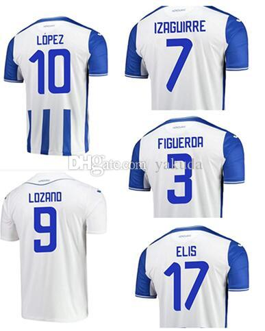21-22 Honduras Anpassad Thai Quality Soccer Jerseys 11 Castillo 13 dyrt 2 Beckeles 9 Lozano 7 Izaguirre 17 Elis 6 Garcia 10 Lopez Jersey