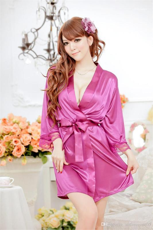 الأنابيب ملابس للنوم مثير الملابس الداخلية مع حزام الجلباب الأزياء رقيقة السيدات يغري حمام Pijamas الصلبة نساء الرباط