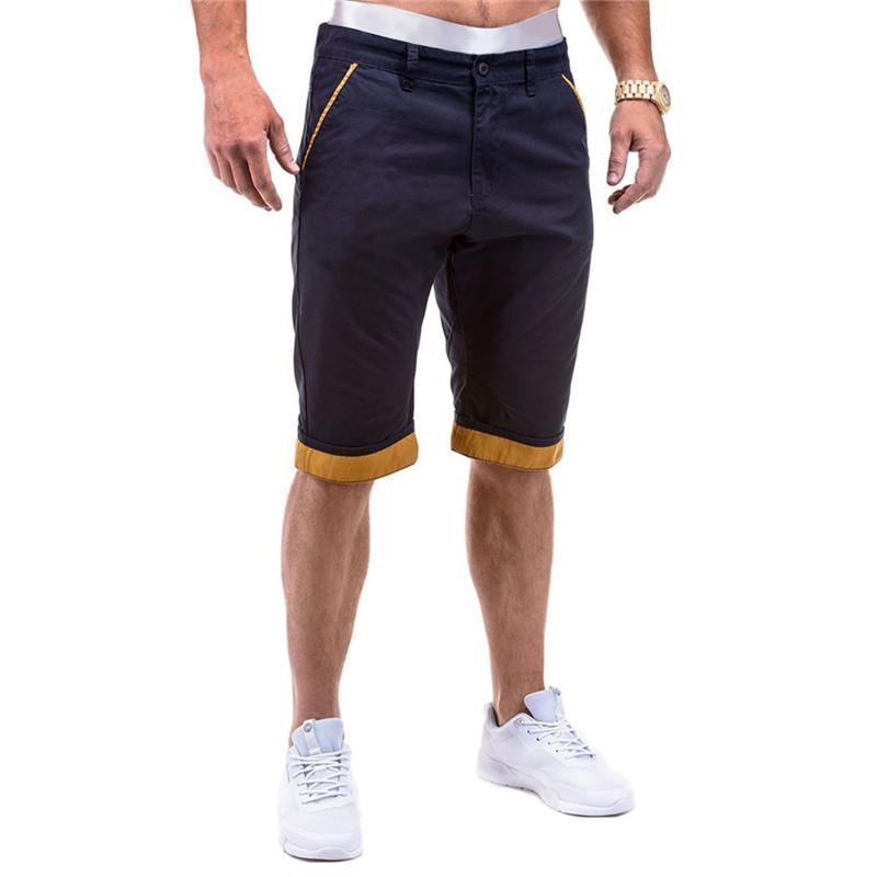 Tasarımcı Relaxed Yaz Pantalones Cortos Yıkama Dokuma İşleme Pantaloncini Uomo Moda Katı Fermuar Fly Erkek Şort