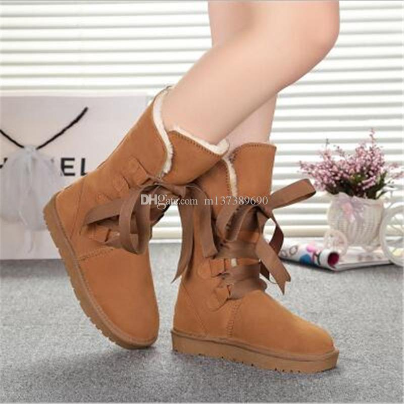 Fashion Winter Snow Boots Women New BUTTON Three Boot Ladies Warm Australia Tall Shoes Girls Xmas Classic Boots for Sale