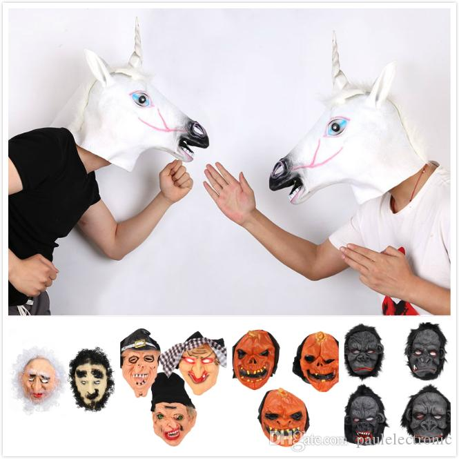 Halloween mask party scary mask ghost clown witch horse wolf gorilla mask face masks scream masks costume masks