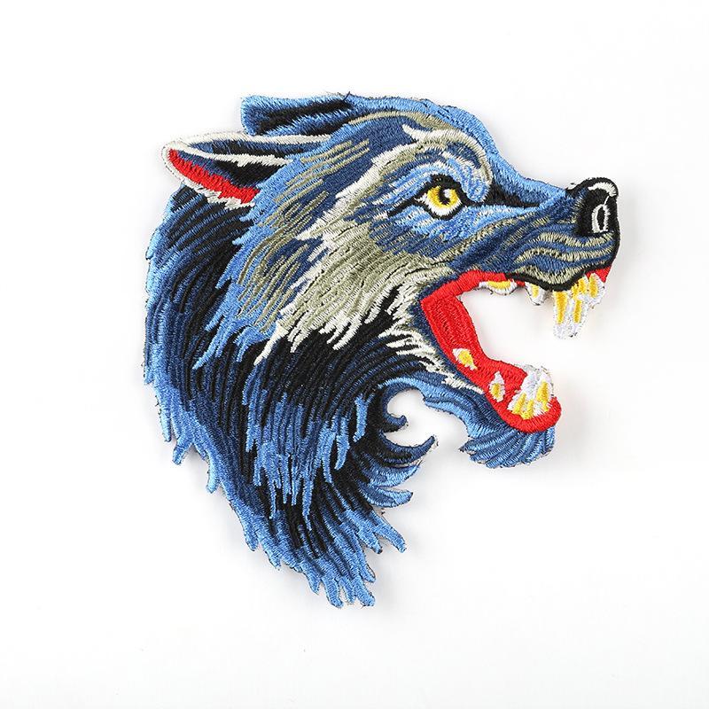 Grand Cartoon Tissu Autocollants Sac brodé adhésif Patch Vêtements Accessoires Badge tissu broderie Vêtements Effrayant Patches
