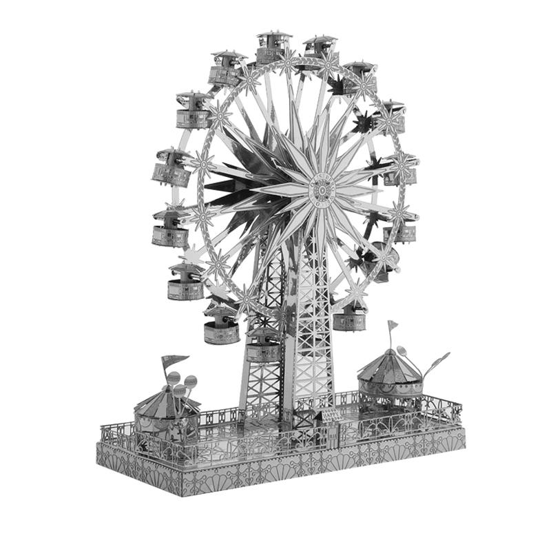 Metal modelo 3D Puzzle Movable Rotating Ferris Wheel DIY Laser Cutting enigma difícil Kit Assembléia Adulto Colecção Y200421