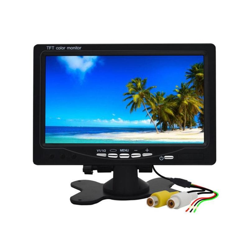 2020 New Super 7 Inch Car Headrest Display Monitor Rear View Display And Wifi Rearview Reverse Backup Camera Car Tv