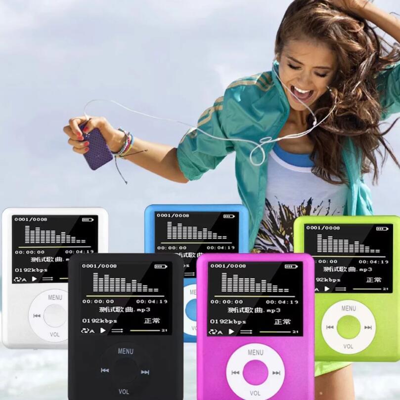 50pcs MP4 1.8 Inch Color Screen Video Card MP4 MP3 Player Multi-Language Recording E-Book Radio Picture Text Reading Music Movie MX-891