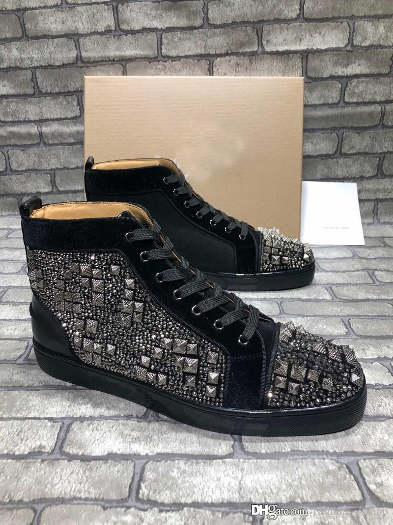 2019 luxury designer mens shoes fashion luxury designer women shoes basketball sneakers trainers star vintage loafers with box -411