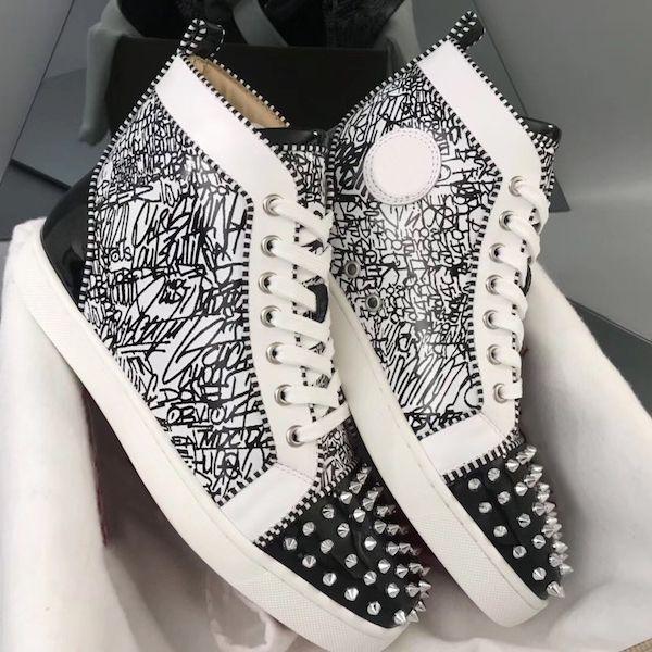 Zapatos 2019 Orlato zapatillas de deporte inferiores rojas junior Spikes Formadores Hombres más alta zapatos planos de la manera del partido de baile con la CAJA US12.5