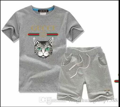2019 verano de manga corta camiseta de la camisa de impresión camisa de polo de la manera camiseta de la muchacha algodón de primera camiseta del bebé de los niños del bordado de alta gama
