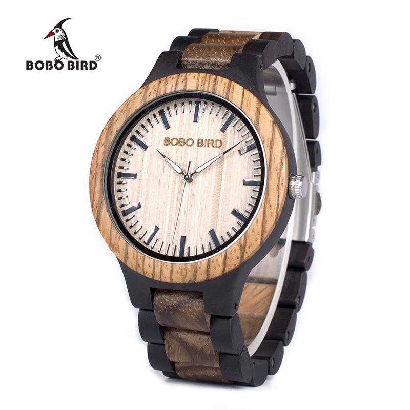 Bobo Bird Wn28 Мужские Деревянные Часы Zabra Деревянные Кварцевые Часы Для Мужчин Япония Miyota 2035 Часы В Подарочной Коробке С Инструментом Для Регулировки Размера Y19052103