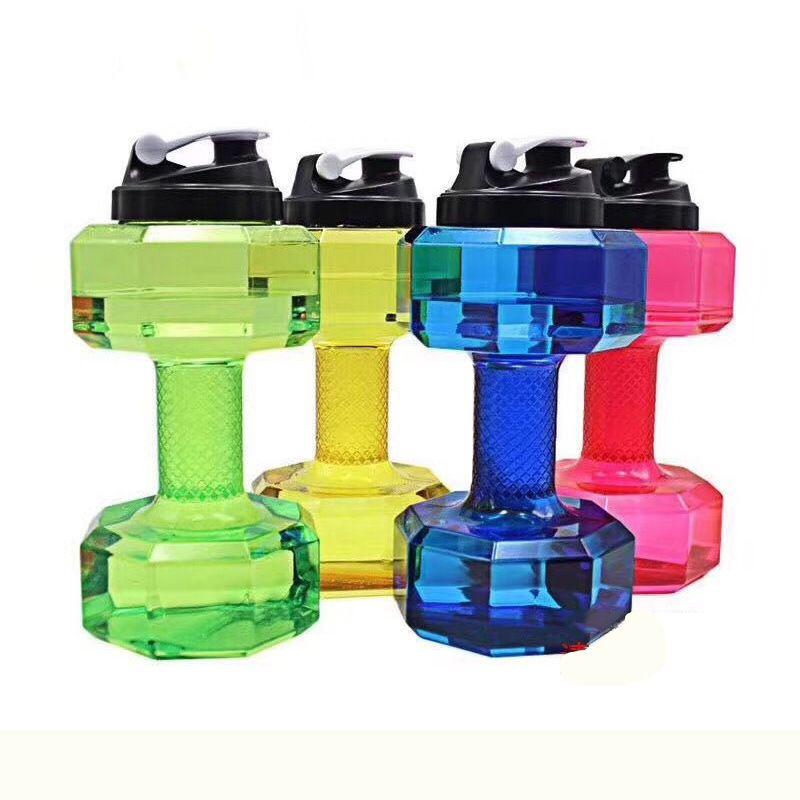 2.2L Portable Dumbbell Sports Travel Water Bottle