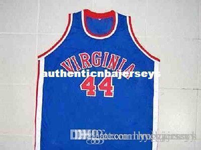 # 44 George Gervin Virginia Squires Retro Top genäht Stickerei Basketball-Trikots Gewohnheit irgendeine Nummer und Name Trikots XS-6XL Vest Trikots