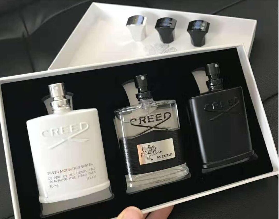 Creed Parfüm 3 stücke Set Deodorant Weihrauch Duft Duftende Köln Für Männer Silber Bergwasser / Creed Aventus / Grün Irischer Tweed 30ml
