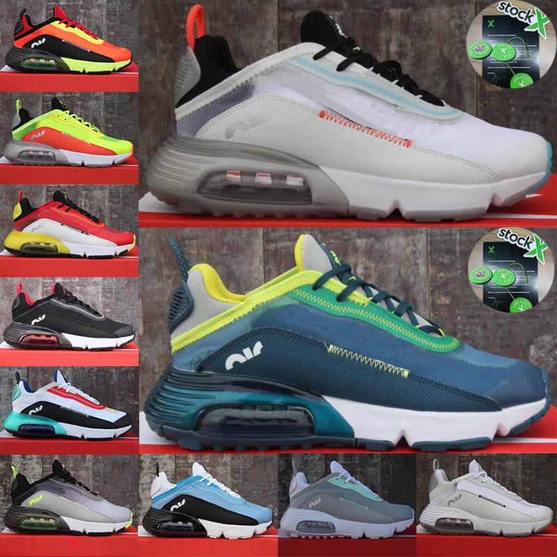 2020 Mode Hommes Formateurs Luxe 2090 OG Femmes Chaussures Triple Blanc Noir Designer Jogging Randonnée Sports Sneakers Airs Taille 36-45