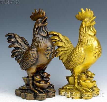 copper Shunde Chicken Rooster rooster Home Furnishing decorative ornaments cock Decoration Crafts Ornament anti mistress
