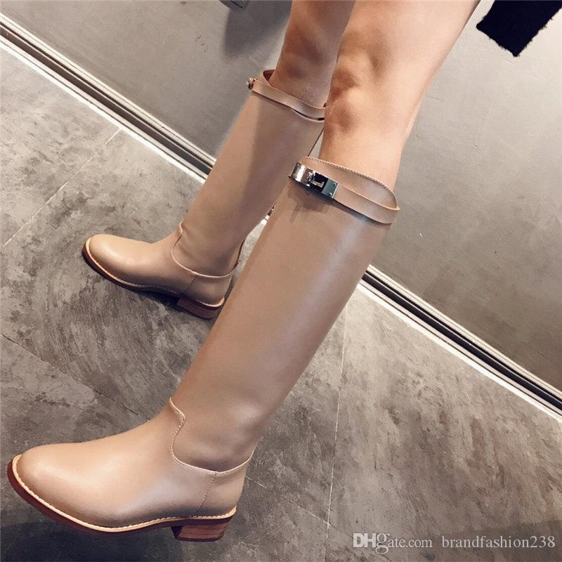 2019 marca moda diseñador de lujo zapatos de mujer Moda diseñador de lujo Botas de mujer Botas de marca botas de invierno para mujer Zapatos de vestir de mujer talla 42