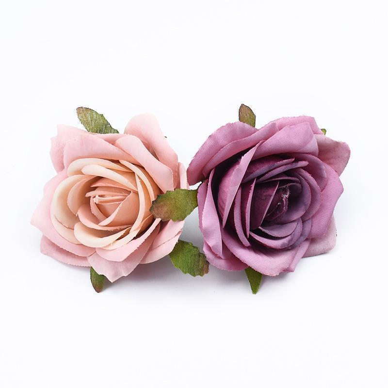 düğün Parti ev dekorasyonu diy hediyeler için 100pcs Dekoratif çiçekler çelenk yapay çiçekler güller başını scrapbooking box