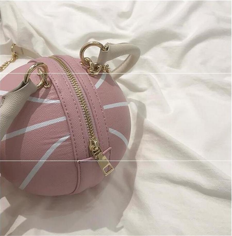 Pelle di colore della caramella di marca di modo delle donne di sacchetto morbido PU Messenger Bag di pallacanestro la catena della spalla di Crossbody della borsa Borsa Mujer # 45617