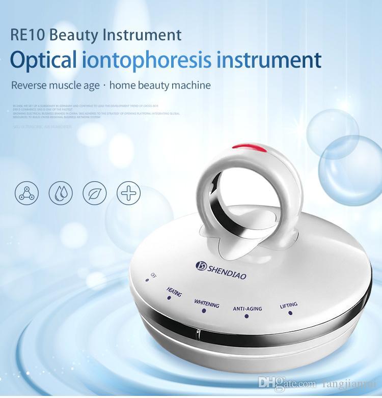 2019 NEW RF iontophoresis équipement de beauté du visage instrument de suppression des rides Ménage lifting et serrage machine RF Équipement