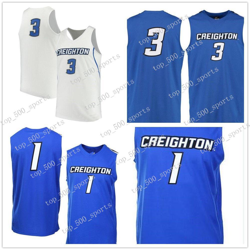 3 Doug McDermott Creighton Blujayson Blujays Colégio Basquete Jersey Bordado Athletic Ao Ar Livre Vestuário Mens Desporto Camisolas Tamanho S-3XL