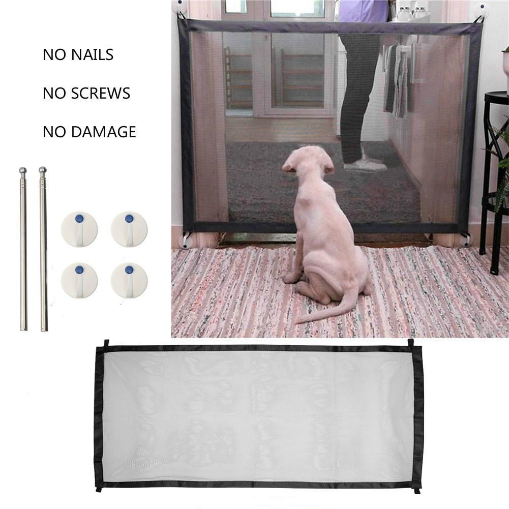 182*72cm Magic Gate Portable Folding Safety Guard Mesh Magic Net for Pet Dog Cat
