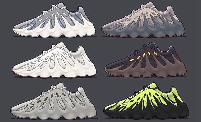 2019 451 hommes Kanye West en cours d'exécution des entraîneurs sportifs des femmes chaussures de sport mode casual chaussures de jogging en plein air volcanique de chaussures