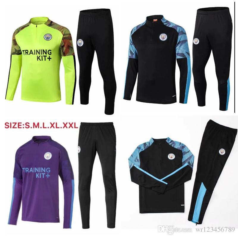 2020 بدلة رياضة مانشستر سيتي لكرة القدم كون أغيرو سان سترينج دي ماهرز برناردو بدلة تدريب 19-20 كرة رياضية