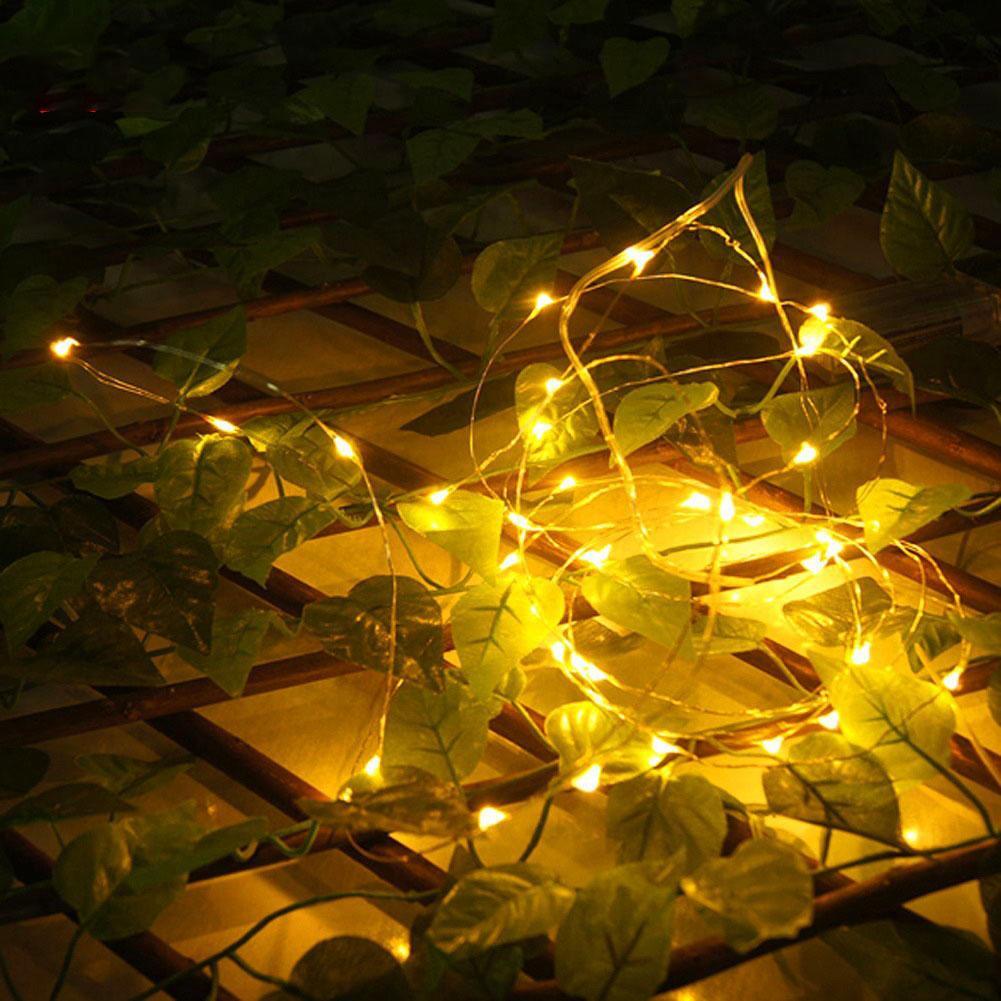 크리스마스 LED 문자열 조명 장식 요정 조명 배터리 LED 가제트 운영 스타 구리 와이어 램프 실내 X-MAS 결혼식 이벤트