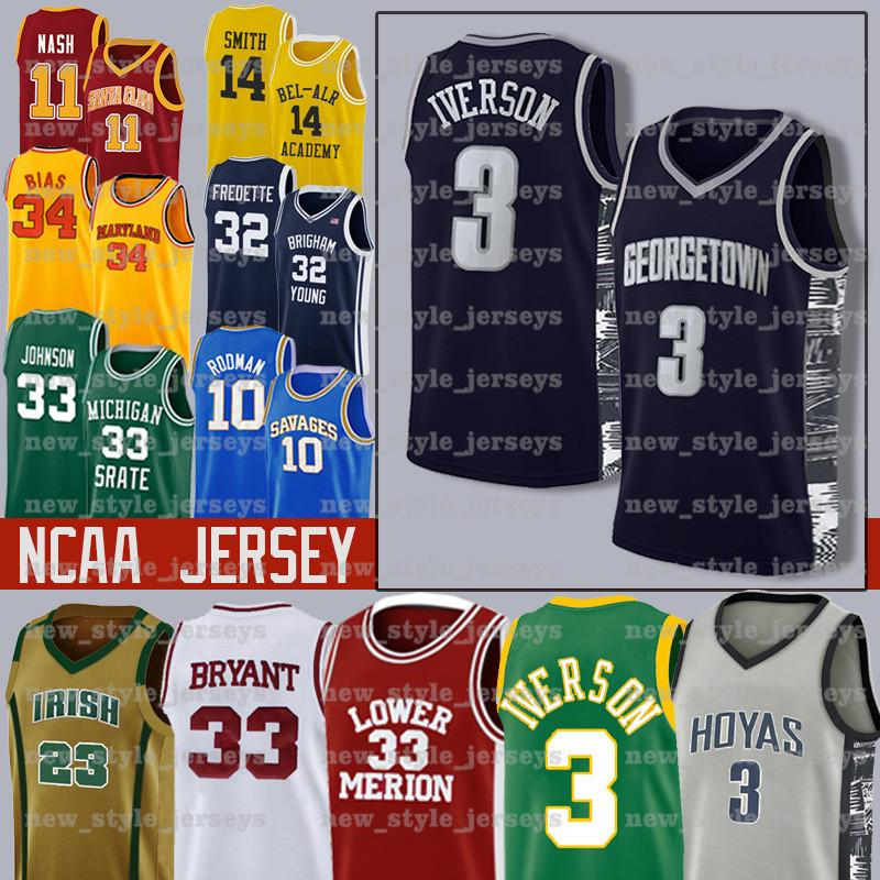 Nouveaux hommes Iverson NCAA 21 Joel 25 Ben Embiid Simmons Jeune 11 Trae 14 Tyler 0 Jayson Herro Tatum College Basketball Jerseys