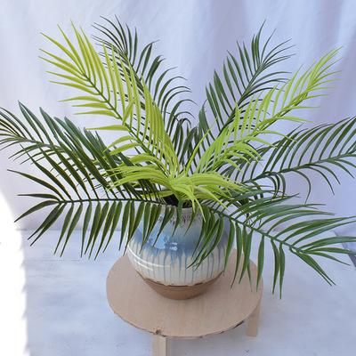 Piante artificiali Felce finta Decorazioni di palma Pianta Artificiale Palma Stelo Decorazione da parete verde Pianta finta Pianta EEA462