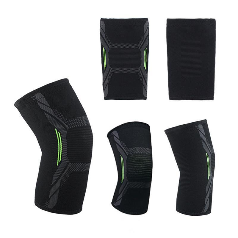Fitness Running Cycling Knee Pads Breathable Sweat Absorbent Anti-Slip Sports Compression Knee Pad Basketball Kneepads