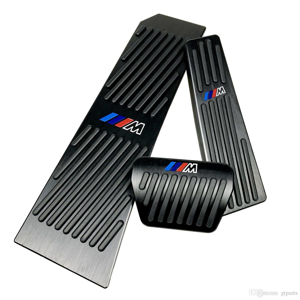 BMW 뉴 5 6 7 시리즈 GT 투어링 X3 X4 Z4 블랙에 대한 드릴 가스 브레이크 발판 페달 플레이트 패드 블랙 알루미늄 합금 발판 가스 브레이크 페달
