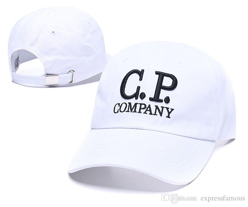 2020 جديد وصول CP C.P COMPANY قبعات قابل للتعديل منحنية بلغت ذروتها الرسائل strapback الأزياء قبعة قبعة الشمس القطن قبعة العظام الجملة