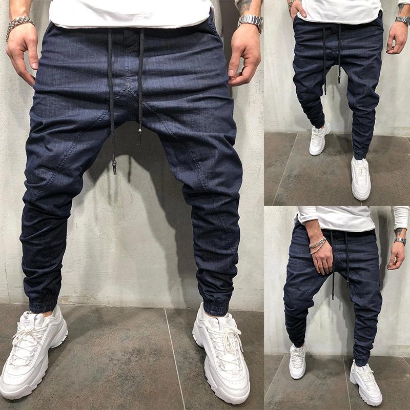 Hommes Pantalons solides Couleur cordonnet pour Courir Sports de plein air Pantalons simple Jogger