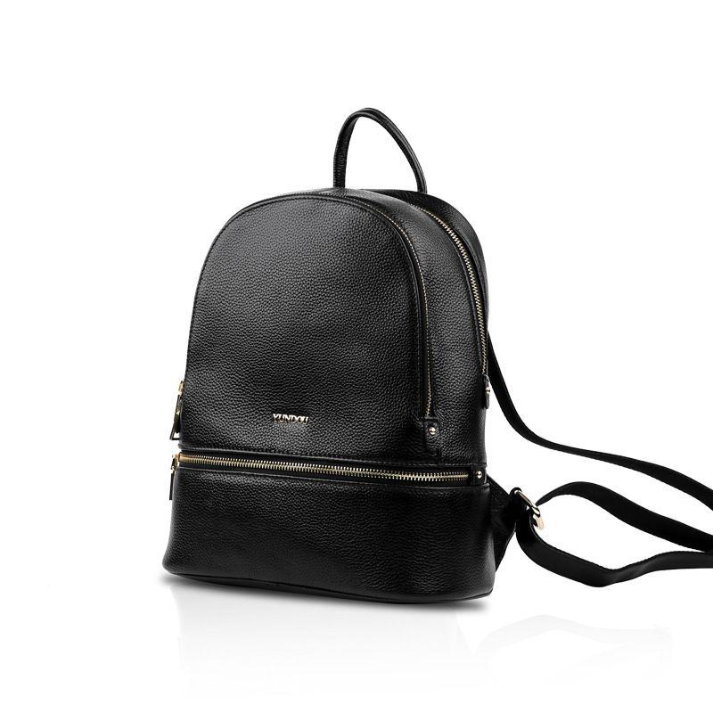 Çanta Bayan 2020 Yeni Deri Omuz Çantası Katı Renk Vintage Mischpalette Sırt Çantası Womens Womens