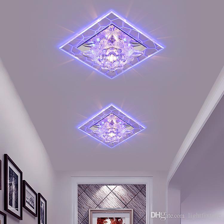 Modern LED Tavan Lambası Koridor Passageway Tavan Işıkları Ev Kapalı Aydınlatma Yüzey Monte Gömme Kristal Sundurma Spot
