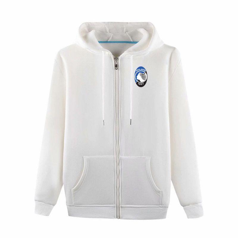 Serie A Atalanta BC tam Zip Kapüşonlu ceket futbol Eğitim ceket erkekler futbol Hoodie Kazak ceket futbol Kazak ceket erkek ceketler