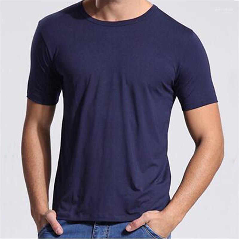 Couleur de la mode T-shirts ras du cou en vrac Homme T-shirts Casual Hauts à manches courtes d'été Hommes pur