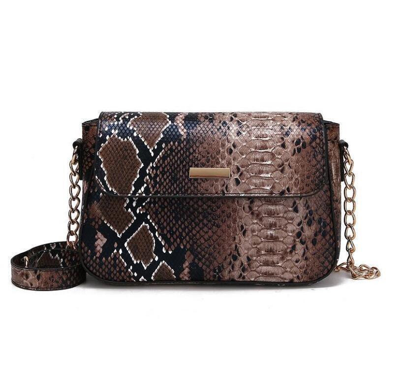 Designer Lady serpentina bolsas de Luxo Mulheres Shoulder Bag Moda animal Imprimir Bandoleira cadeia de bolsas