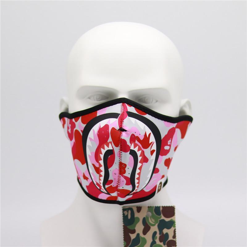 Drucke Hai Masken Fahrrad Radfahren Motorrad halbe Gesichtsmaske-Winter-warmen Outdoor-Sport Ski Mask Warm Maske Männer Frauen Facemask 7 Farben 2020