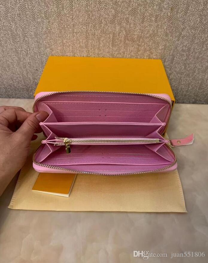 Moda Tasarımcısı Kredi Kartı Tutucu Yüksek Kalite Klasik Kabartmalı Leathere Çanta Katlanmış Notlar ve Makbuzlar Çanta Cüzdan Çanta Dağıtım Kutusu
