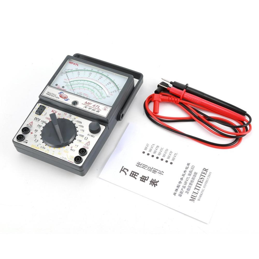 Tester di resistenza elettrica Multimetro a puntatore analogico Multitester Multimetro analogico Strumento di test di resistenza a tensione CC AC
