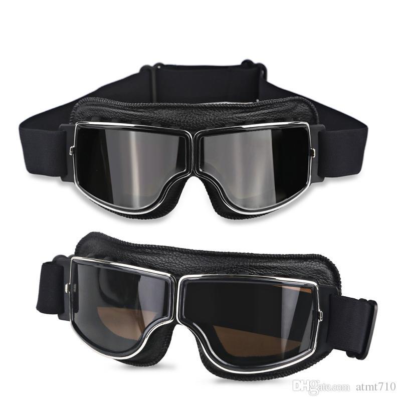 Windproof Motorcycle Vintage Goggles Moto Aviator Pilot Motorbike Goggles Retro Jet Helmet Eyewear For Harley Cycling